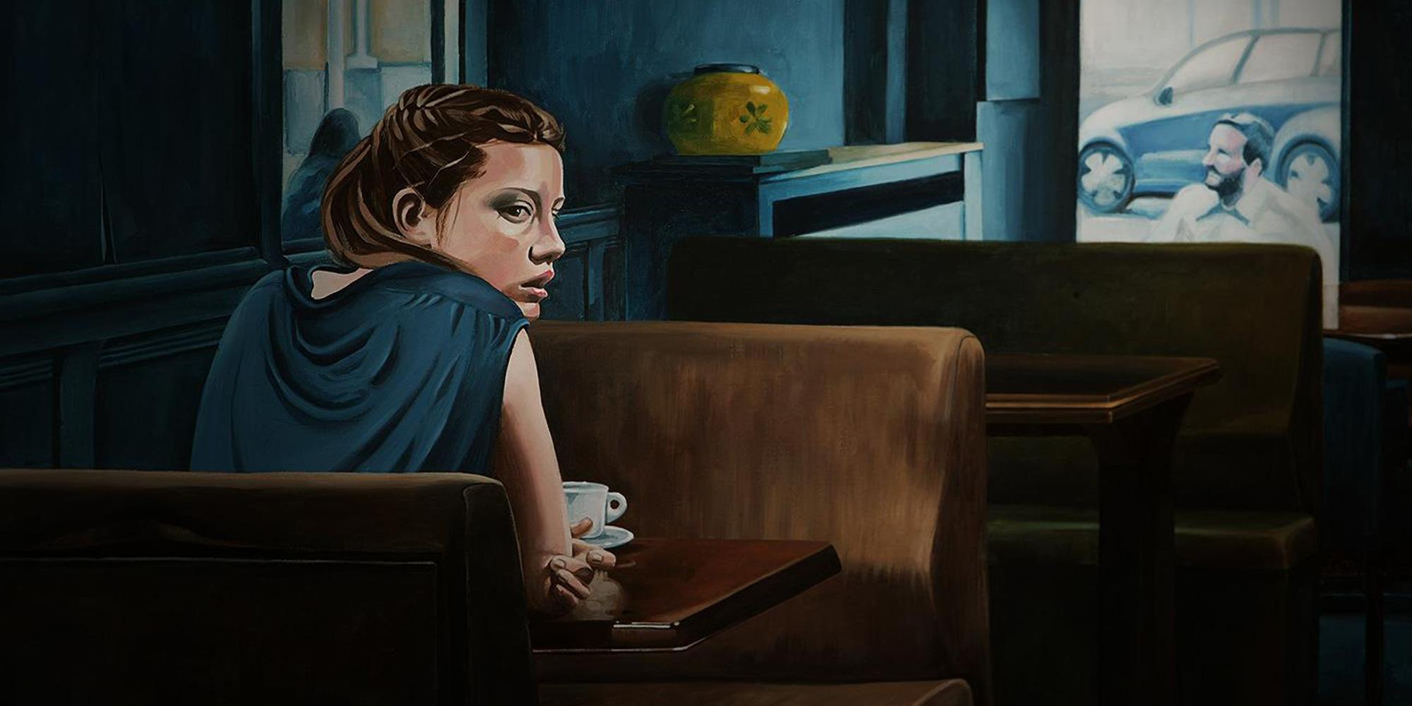 Részlet az Adéle élete című filmből - akril vásznon