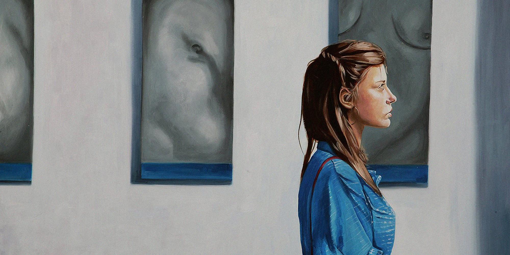 Az Adéle élete című film hatására készített illusztráció - akril, vászon