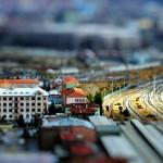 Az ankarai vasútállomás tilt shift effekttel