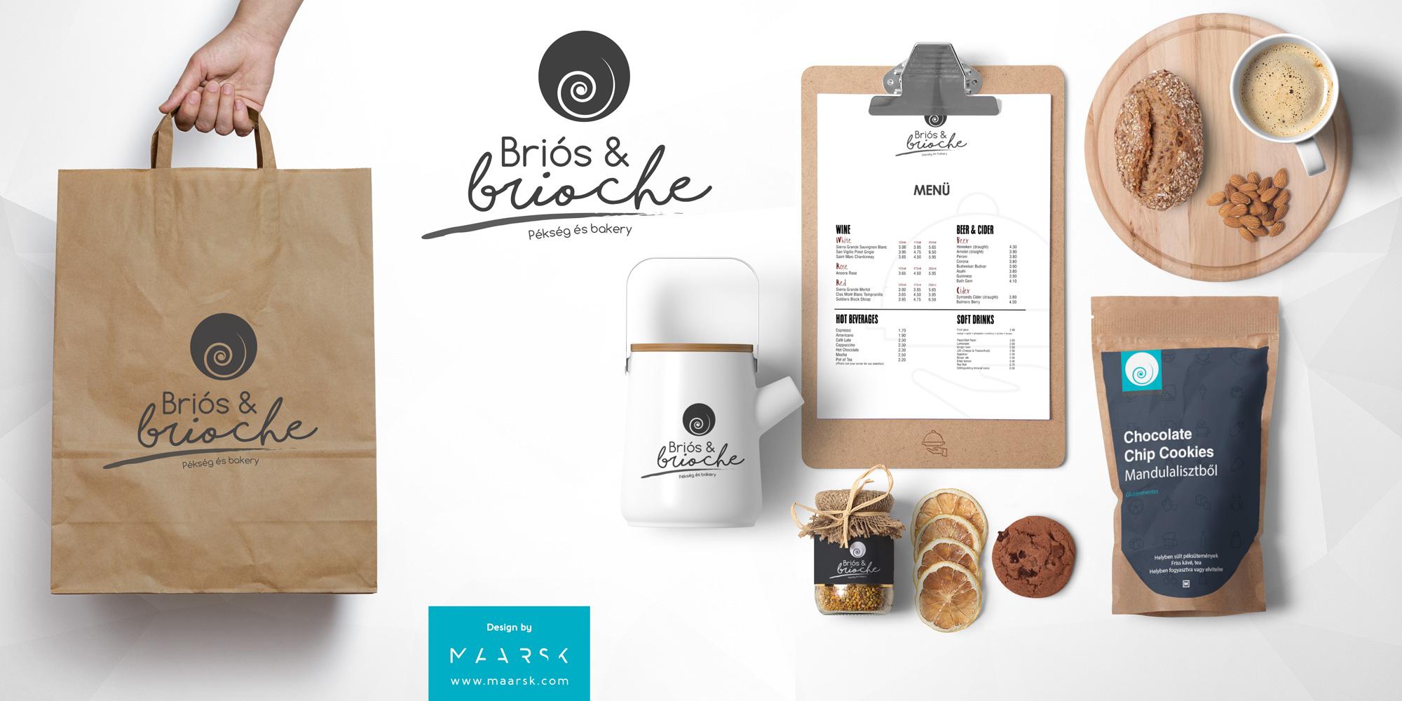Briós & Brioche pékség logó- és arculattervezés