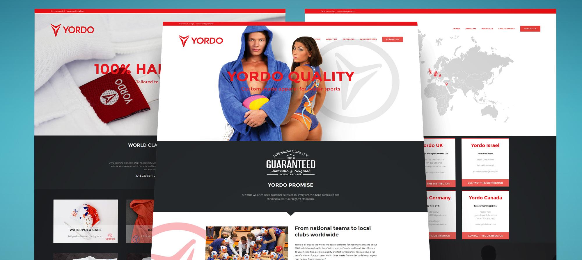 Yordosport.com weboldal tervezés és weboldal építés, termékfotózás