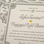 letterpress esküvői meghívó