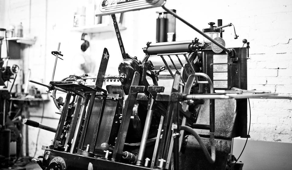 Eredeti Heidelberg letterpress nyomógép