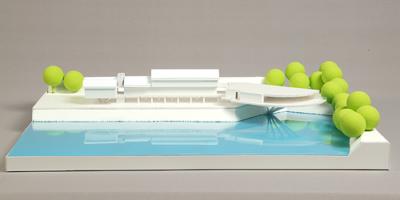 Csónaktároló makett