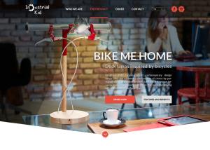 Industrial Kid weboldal koncepció