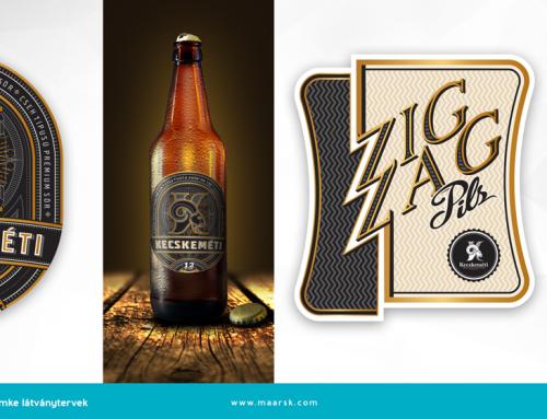 Kecskeméti sör címketervek