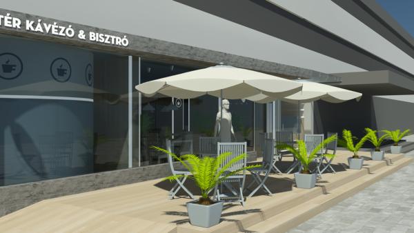 Főtér kávézó tervei, Dunaújváros