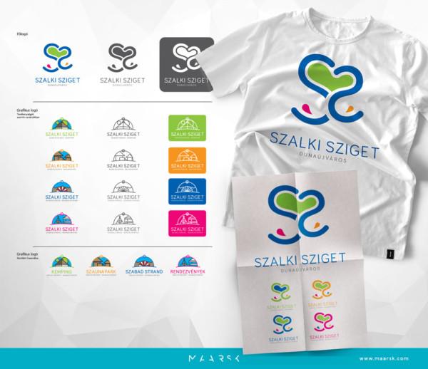 Szalki-sziget logo látvány - Maarsk Graphics