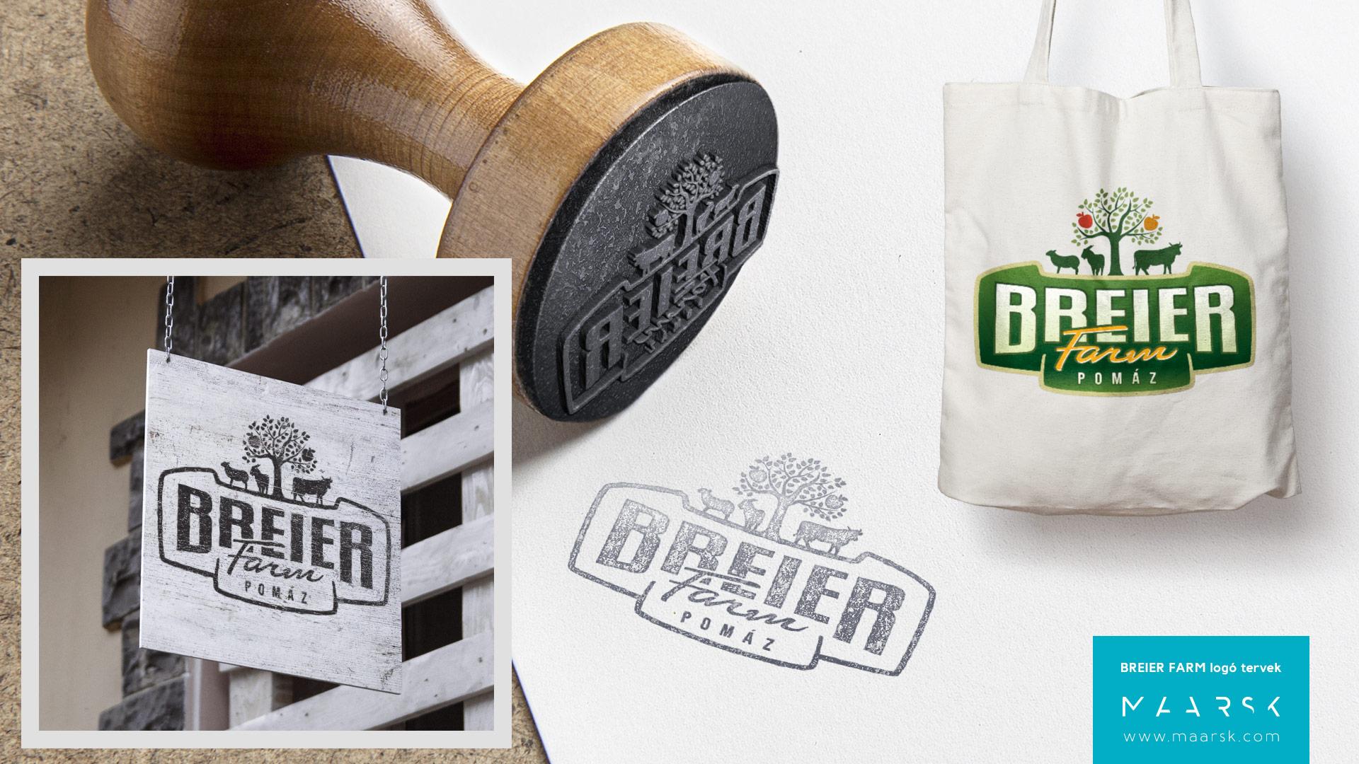 Breier Farm logójának terve - Maarsk Graphics